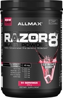 AllMax Nutrition - Razor8 Blast Powder Highly Concentrated Pre-Workout Stimulant Extreme Berry 60 Servings - 20.11 oz.