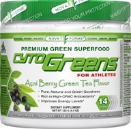 NovaForme - CytoGreen for Athletes Premium Green Superfood Acai Berry Green Tea Flavor 14 Servings - 125 Grams