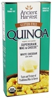 Ancient Harvest Quinoa - Organic Gluten Free Supergrain Quinoa Mac & Cheese White Cheddar with Shells - 6.5 oz.