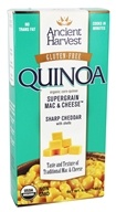 Ancient Harvest Quinoa - Organic Gluten-Free Supergrain Quinoa Mac & Cheese Sharp Cheddar with Shells - 6.5 oz.