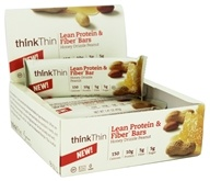 Think Products - thinkThin Lean Protein & Fiber Bar Honey Drizzle Peanut - 1.41 oz.