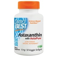 Doctor's Best - Best Astaxanthin Featuring AstaPure12 6 mg. - 30 Softgels