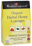 Wedderspoon Organic - Herbal Honey Lozenges with Fennel & Cinnamon - 4 oz.