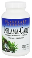 Planetary Herbals - Inflama-Care Turmeric/Boswellia Complex 1165 mg. - 120 Tablets