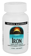 Source Naturals - Iron Amino Acid Chelate 25 mg. - 250 Tablets