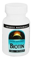 Source Naturals - Biotin 5 mg. - 120 Tablets