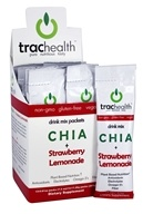 TracHealth - Chia + Strawberry Lemonade Drink Mix - 12x 0.61 oz. Packs