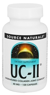Source Naturals - UC-II - Undenatured Collagen Joint Comfort 40 mg. - 120 Capsules