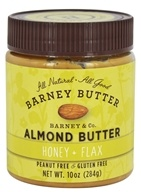 Barney Butter - All Natural Almond Butter Honey + Flax - 10 once.
