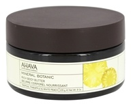 AHAVA - Mineral Botanical Rich Body Butter Tropical Pineapple & White Peach - 8 oz.