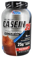 ANSI (Advanced Nutrient Science) - 100% Micellar Casein 25 Protein Powder Rich Chocolate - 2 lbs.