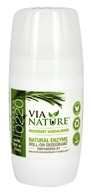 Via Nature - Natural Enzyme Roll-On Deodorant Rosemary Sandalwood - 2.5 oz.