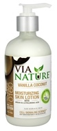 Via Nature - Skin Lotion Moisturizing with Argan Oil & Hyaluronic Acid Vanilla Coconut - 8 oz.