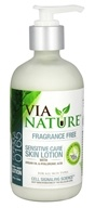 Via Nature - Skin Lotion Sensitive Care with Argan Oil & Hyaluronic Acid Fragrance Free - 8 oz.