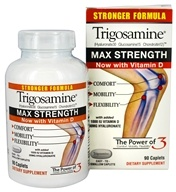 Trigosamine - Max Strength with Added 1000 IU Vitamin D & 30 mg Hyaluronate - 90 Caplets