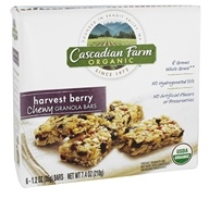 Cascadian Farm - Organic Granola Bars Chewy Harvest Berry - 6 Bars