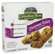 Cascadian Farm - Organic Granola Kid Sized Bars Chewy Oatmeal Raisin - 8 Bars