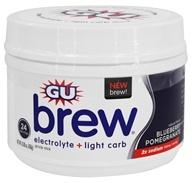 GU Energy - Brew Electrolyte Plus Light Carb Drink Mix Blueberry Pomegranate - 16.08 oz.