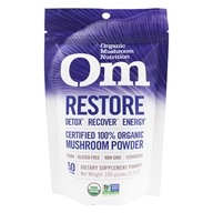 Om - Restore Organic Mushroom Powder - 3.57 oz. Formerly Mushroom Matrix Critical Care