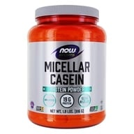 NOW Sports Micellar Casein Protein Powder Unflavored - 1.8 lbs. by NOW Foods