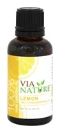 Via Nature - Lemon 100% Pure Essential Oil - 1 oz.