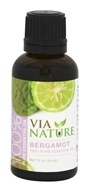 Via Nature - Bergamot 100% Pure Essential Oil - 1 oz.
