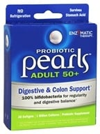 Enzymatic Therapy - Probiotic Pearls Adult 50+ Digestive & Colon Support - 30 Softgels