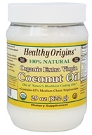 Healthy Origins - Organic Extra Virgin Coconut Oil 100% Natural - 29 oz.