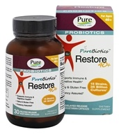 Pure Essence Labs - PureBiotics Restore For Ages 40 and Over - 30 Vegetarian Capsules