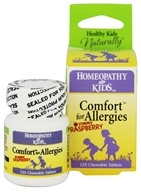 Herbs for Kids - Comfort for Allergies Yummy Raspberry - 125 Chewable Tablets