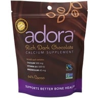 Adora - Calcium Supplement Organic Dark Chocolate 500 mg. - 30 Count