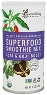 Essential Living Foods - Organic Superfood Smoothie Mix Acai & Goji - 14.5 oz.