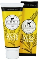 Dionis Goat Milk Skincare - Hand Cream Fresh Citrus - 2 oz.