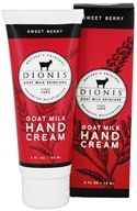 Dionis Goat Milk Skincare - Hand Cream Sweet Berry - 2 oz.