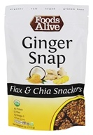 Foods Alive - Organic Flax Crackers Ginger Snap - 4 oz.