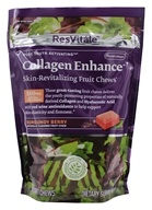 ResVitale - Collagen Enhance Skin-Revitalizing Fruit Chews Burgundy Berry - 30 Soft Chews