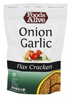 Foods Alive - Flax Crackers Onion Garlic - 4 oz.