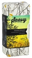 Saavy Naturals - Jojoba Handcrafted Soap Oatmeal Almond - 8 oz. LUCKY PRICE