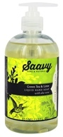 Saavy Naturals - Aloe Vera Liquid Hand Soap Green Tea & Lime - 12 oz.