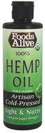 Foods Alive - 100% Organic Hemp Oil - 8 oz.