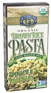 Lundberg - Organic Whole Grain Brown Rice Pasta Spinach and Rosemary - 4.5 oz.