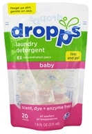 Dropps - Laundry Detergent Pacs 6x Concentrated Baby Scent, Dye + Enzyme Free - 20 Pack(s)