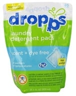Dropps - Laundry Detergent Pacs 6x Concentrated Scent + Dye Free - 80 Pack(s)
