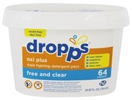 Dropps - Oxi Plus Stain Fighting Detergent Pacs Free and Clear - 64 Pack(s)