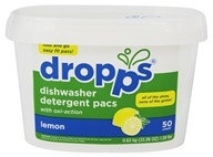 Dropps - Dishwasher Detergent Pacs with Oxi-Action Lemon - 50 Pack(s)