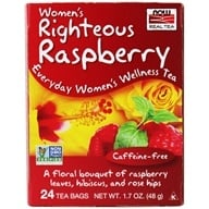 NOW Foods - Women's Wellness Tea Caffeine-Free 24 Tea Bags Righteous Raspberry - 1.7 oz.