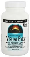 Source Naturals - Visual Eyes Multi-Nutrient Complex with Bilberry Extract, Lipoic Acid and Lutein - 90 Tablets