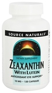 Zeaxanthin with Lutein 10 mg. - 120 Capsules