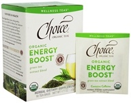 Choice Organic Teas - Wellness Teas Energy Boost - 16 Tea Bags