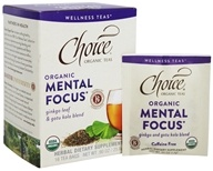 Choice Organic Teas - Wellness Teas Mental Focus - 16 Tea Bags